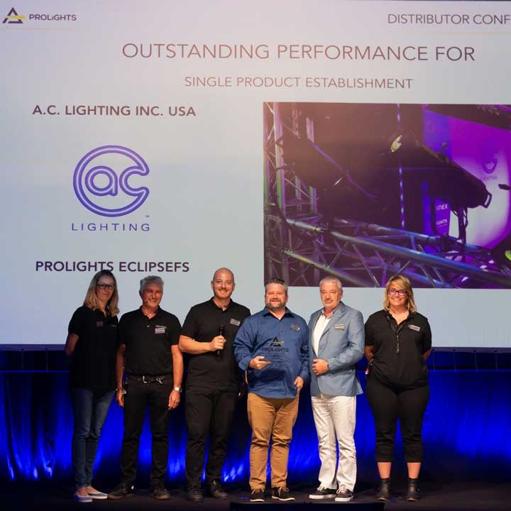 PROLIGHTS Awards A.C. Lighting Inc. with Outstanding Performance Award