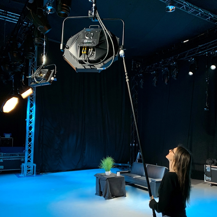 Keep Both Feet on The Ground with Chroma-Q's Pole Operated Pan & Tilt Yoke
