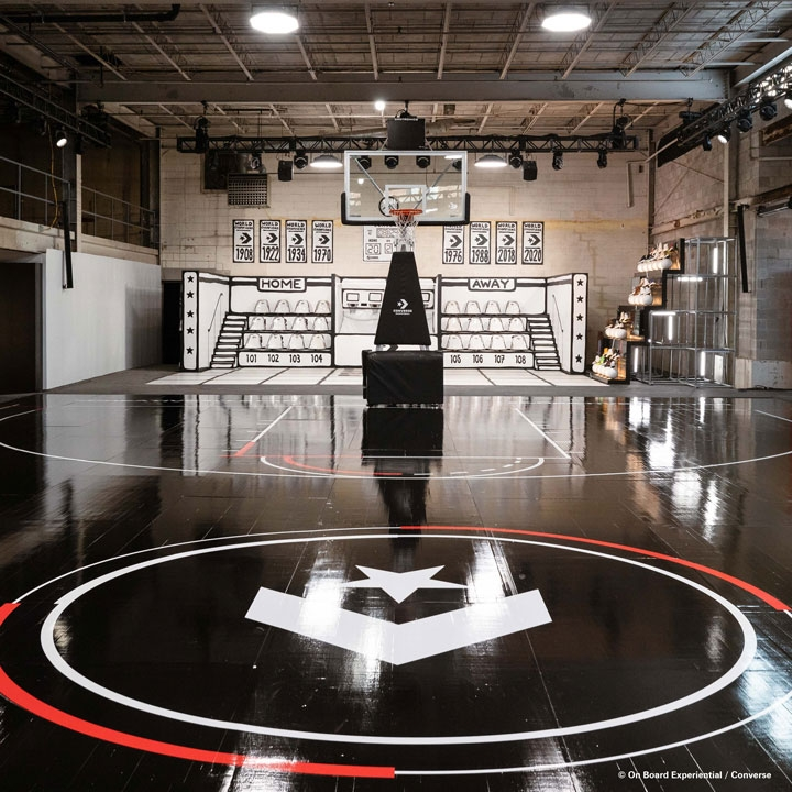 Chroma-Q® Space Force™ fixture creates the feeling of an NBA Basketball Court