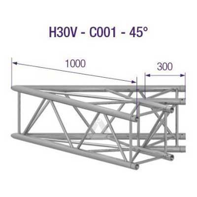 H30V 2-Way Corner 45 Degree