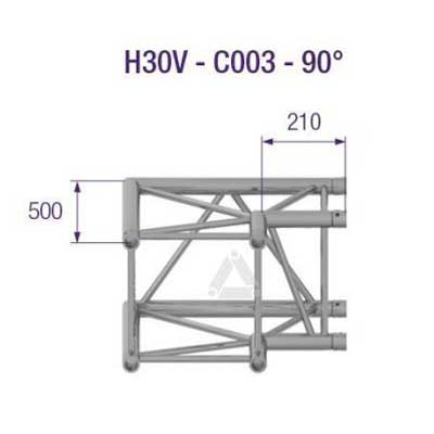 H30V 2-Way Corner 90 Degree