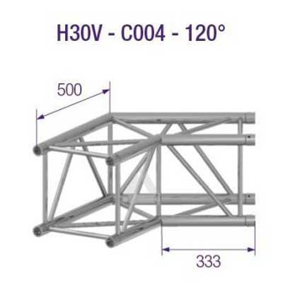 H30V 2-Way Corner 120 Degree